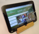 iPad or tablet PC stand - GREEN lined